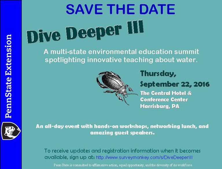 Dive Deeper III - Save the Date - Sept. 22, 2016
