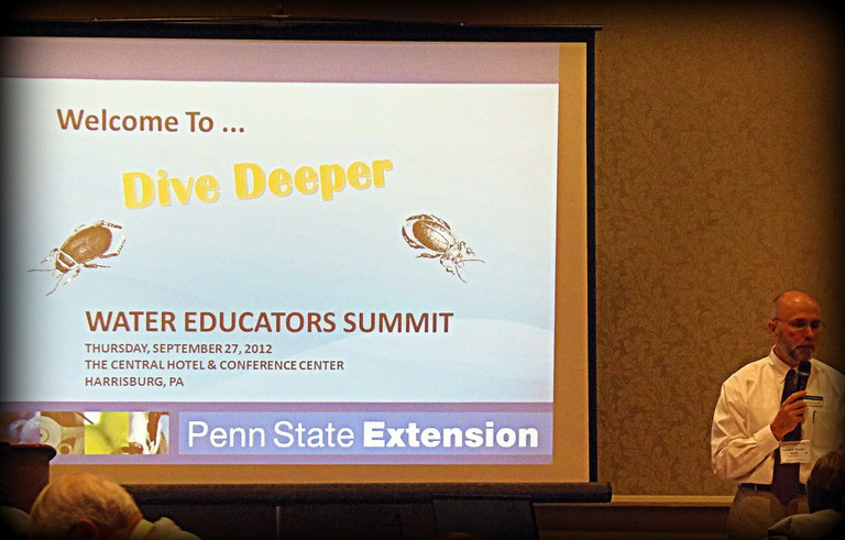 "Sanford ""Sandy"" Smith delivers opening remarks at Dive Deeper 2012"