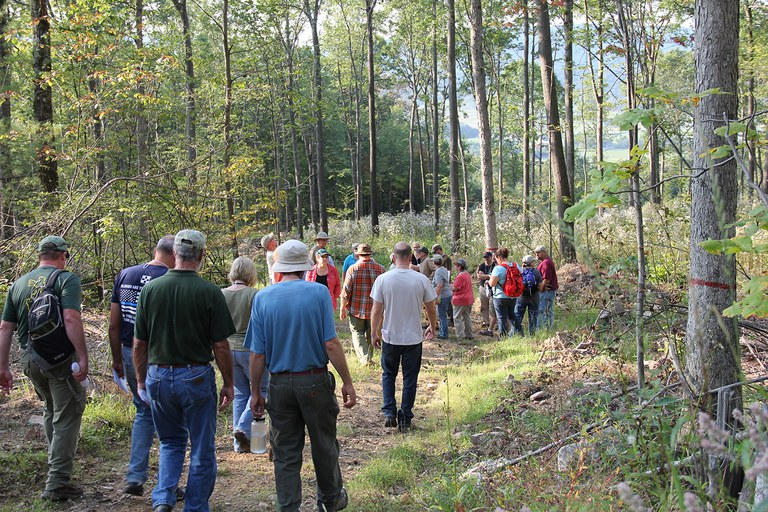 PA Forest Stewards Class of 2017, joined by PAFS alumni, get out into the woods to learn about the many aspects of timber harvesting from a team of forest resource professionals during Basic Training.