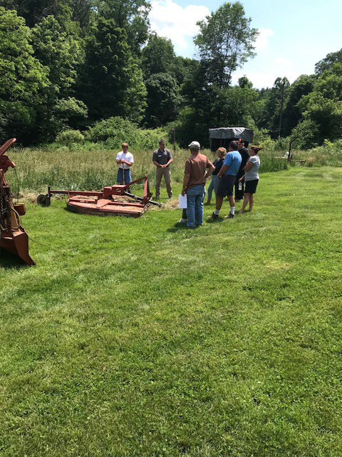 Participants learned how to handle a tractor in a variety of simulated situations during the Tractor Safety Training held at the Burnham Tree Farm (Photo by Maureen Burnham).