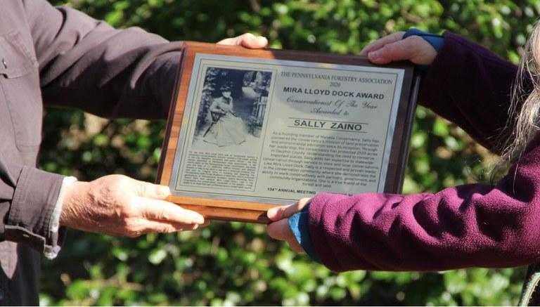 Sally Zaino winner of the 2020 Mira Lloyd Dock Outstanding Woman Conservationist Award