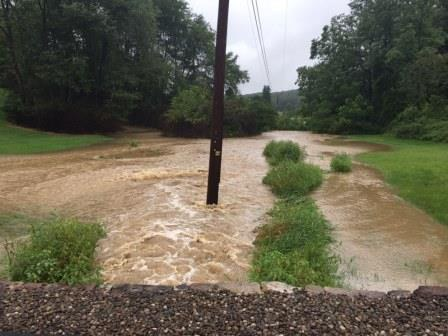 Runoff can cause significant flooding in small creeks