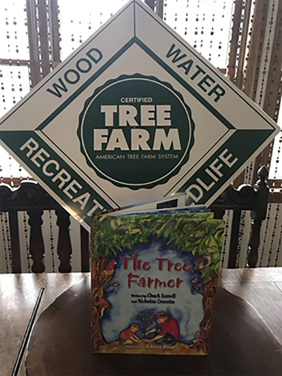 The Tree Farmer children's book was selected as Farmtastic Book of the Year. (Photo provided by Maureen Burnham.)