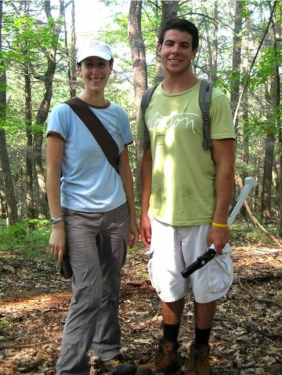 Katie Gaines and John Govannicci (undergraduate) estimating leaf area index