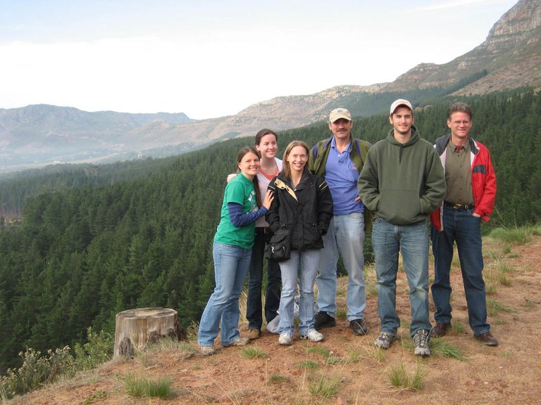 SFR faculty and students visited a plantation on the slopes of Table Mountain in South Africa.